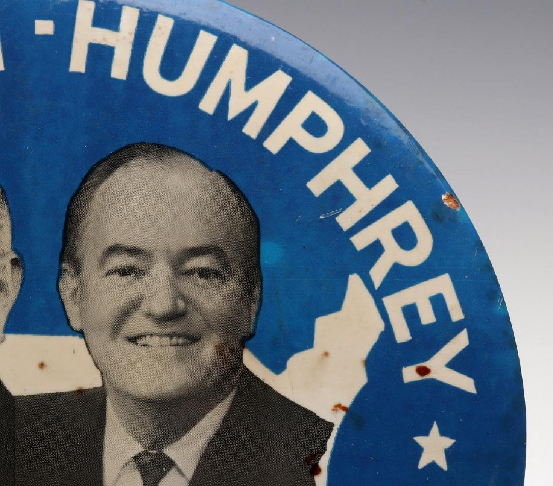 A JOHNSON HUMPHREY NINE INCH 1964 CAMPAIGN BUTTON - 4