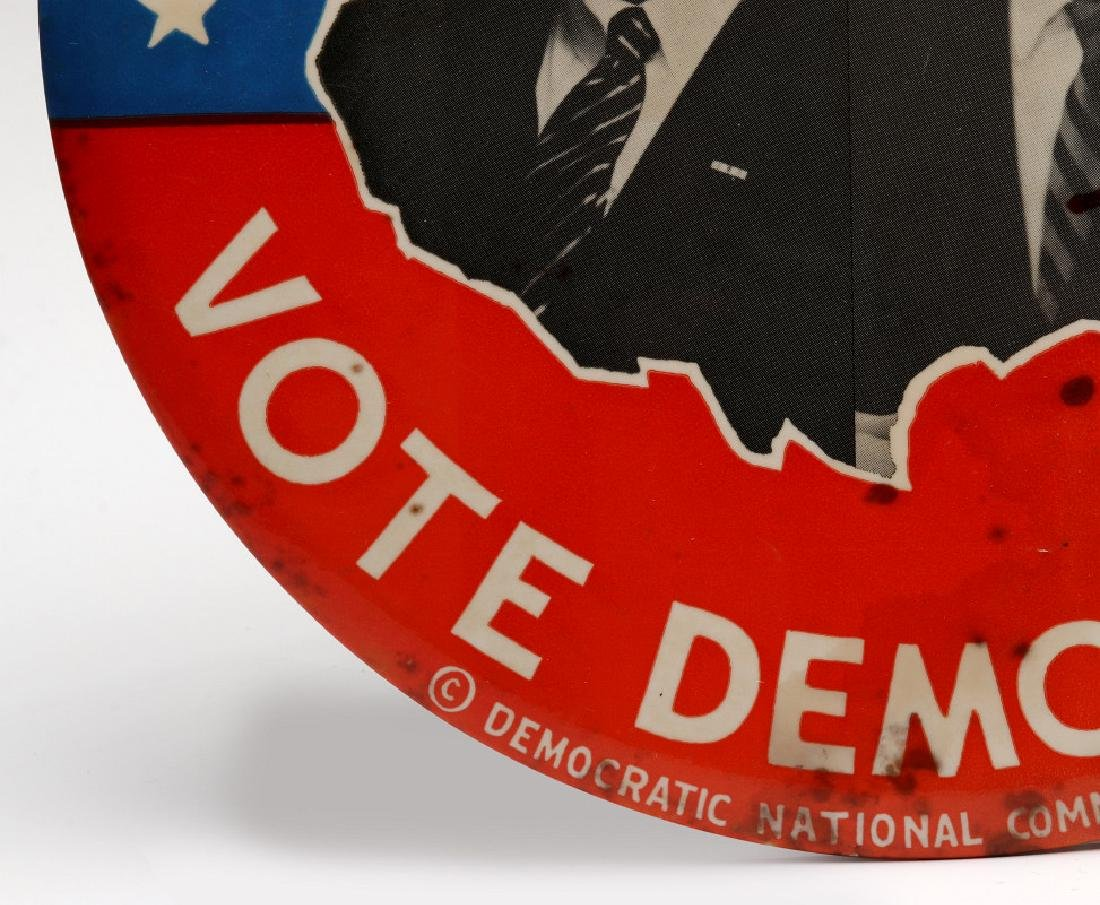 A JOHNSON HUMPHREY NINE INCH 1964 CAMPAIGN BUTTON - 6