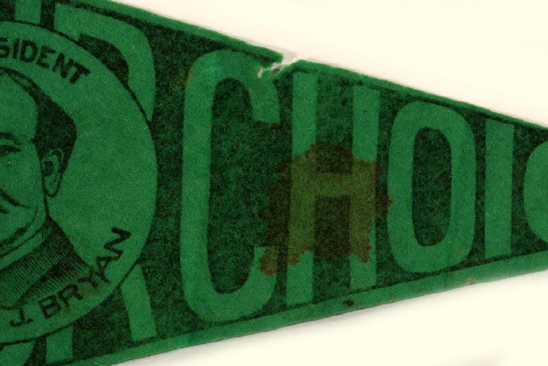 WILLIAM J. BRYAN 'OUR CHOICE' CAMPAIGN PENNANT - 4
