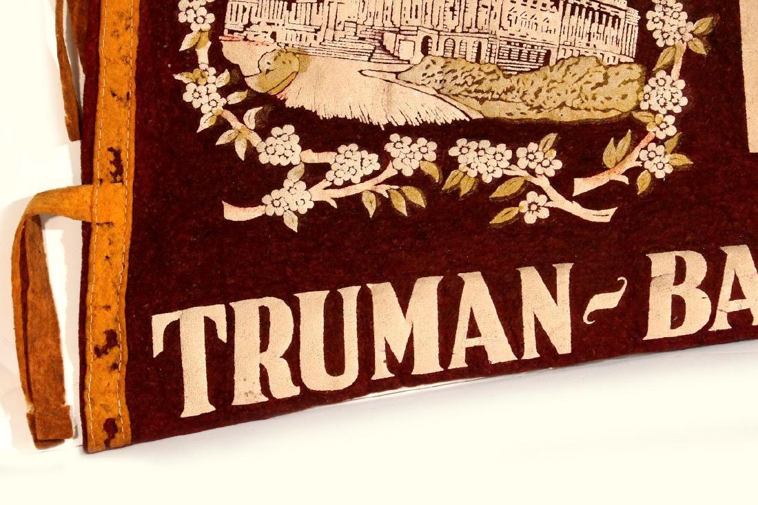 1949 TRUMAN BARKLEY INAUGURATION PENNANT - 5
