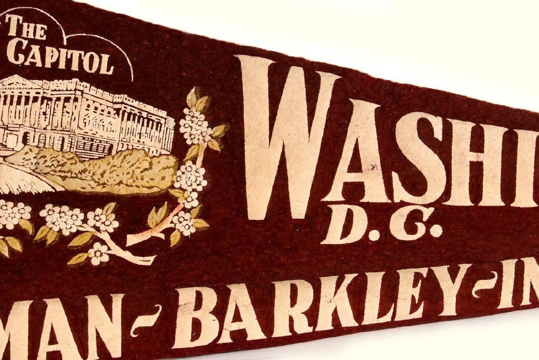 1949 TRUMAN BARKLEY INAUGURATION PENNANT - 6