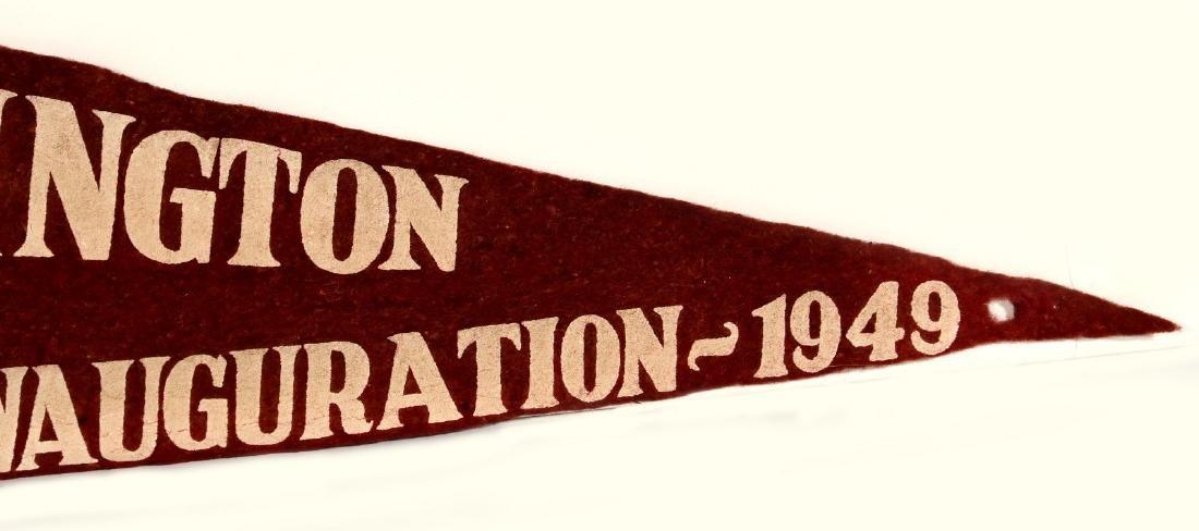 1949 TRUMAN BARKLEY INAUGURATION PENNANT - 8
