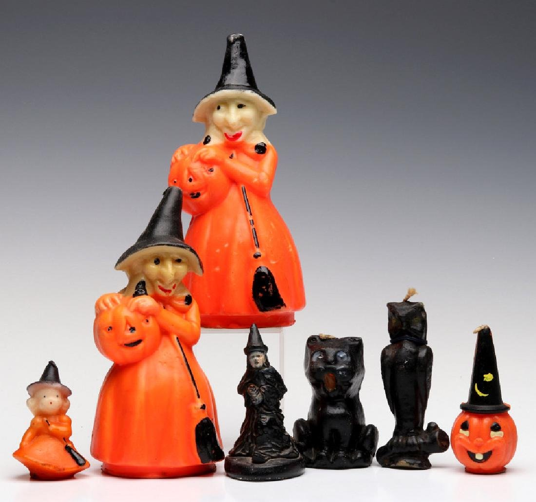 VINTAGE GURLEY NOVELTY CO. HALLOWEEN CANDLES