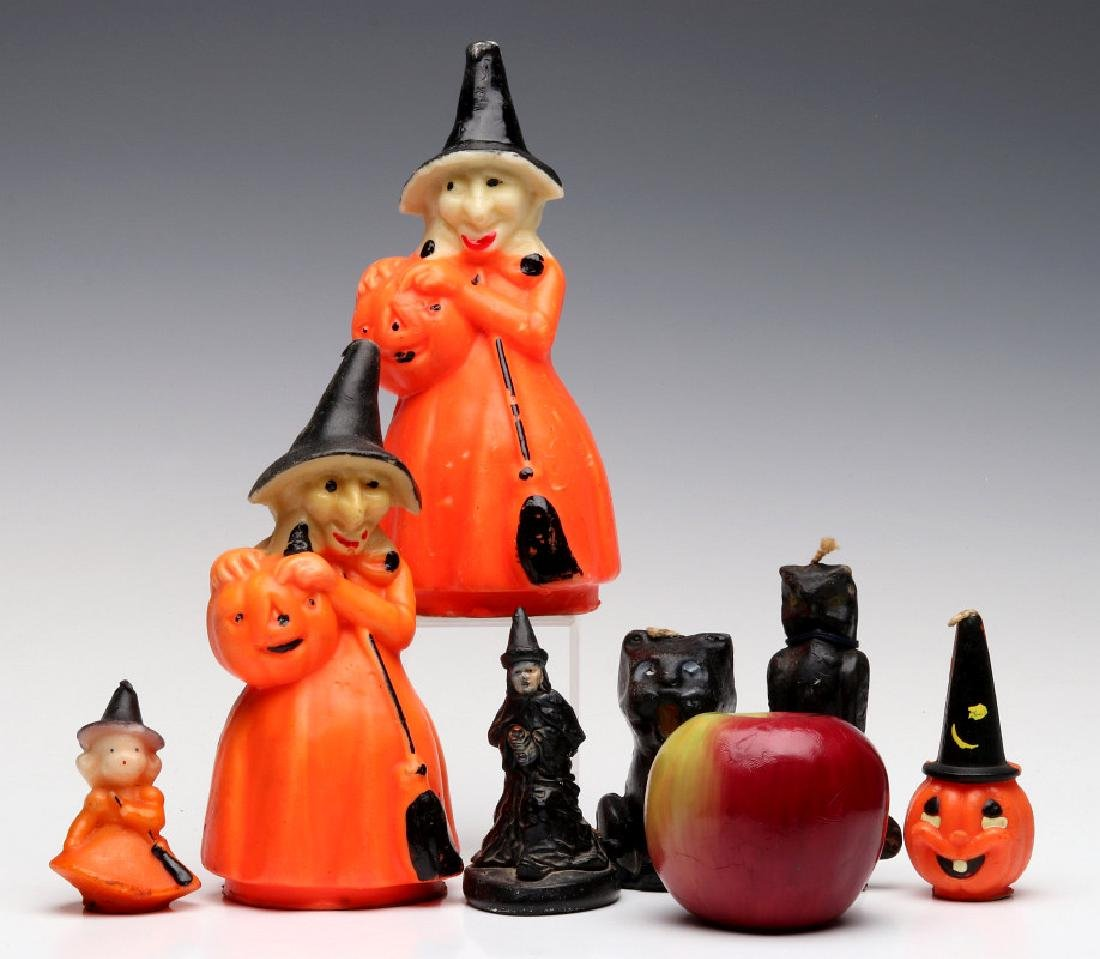 VINTAGE GURLEY NOVELTY CO. HALLOWEEN CANDLES - 2