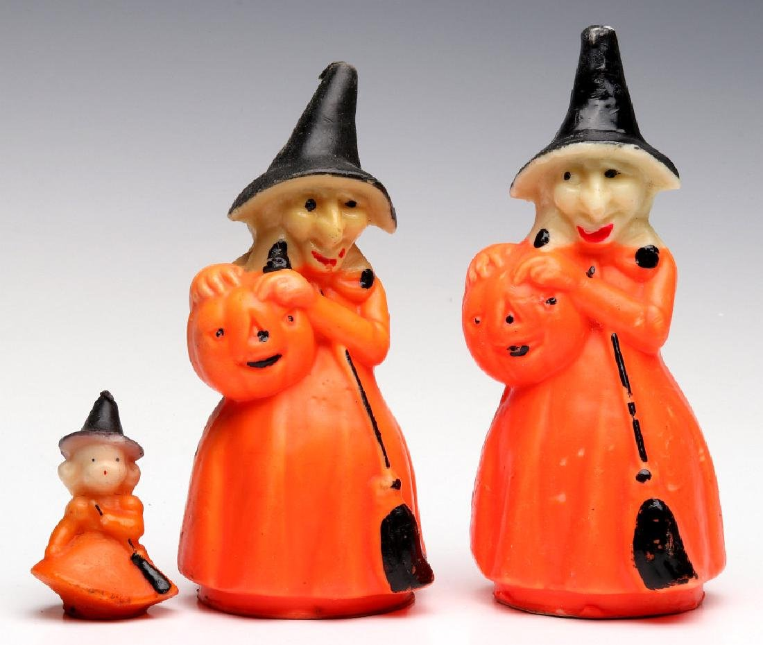 VINTAGE GURLEY NOVELTY CO. HALLOWEEN CANDLES - 3
