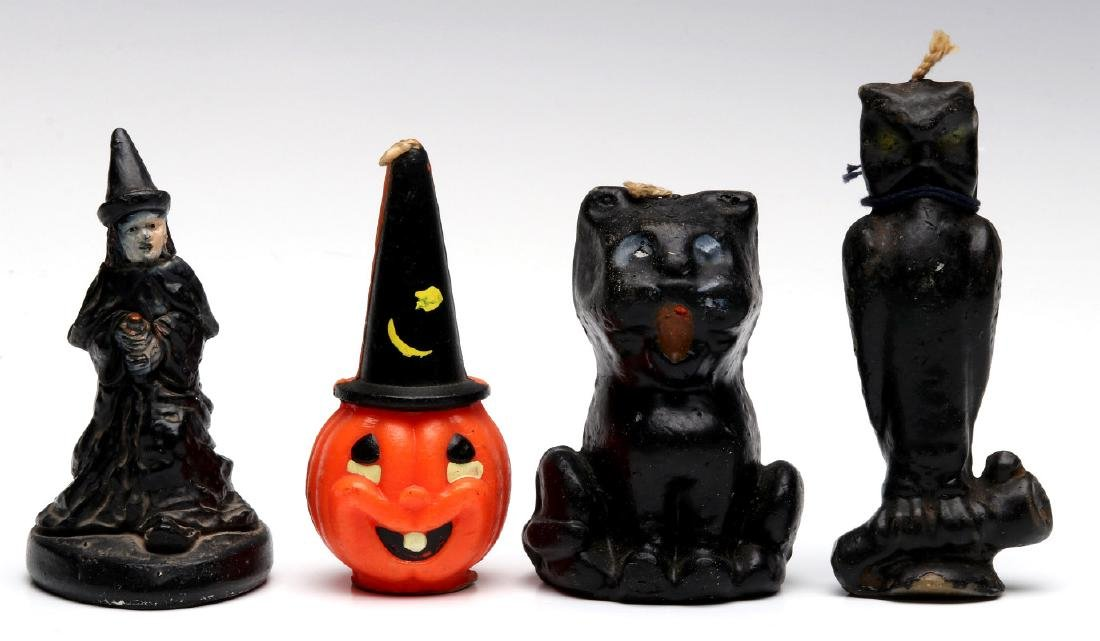 VINTAGE GURLEY NOVELTY CO. HALLOWEEN CANDLES - 6