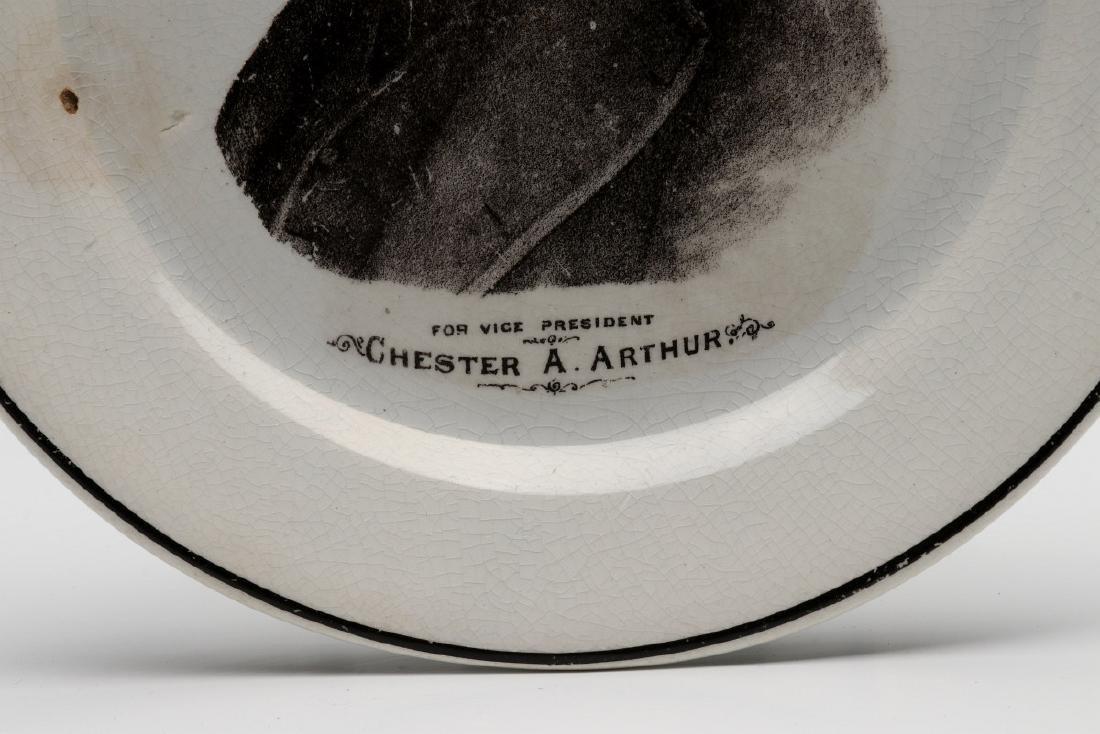 CHESTER ARTHUR FOR VICE PRESIDENT PORCELAIN PLATE - 6