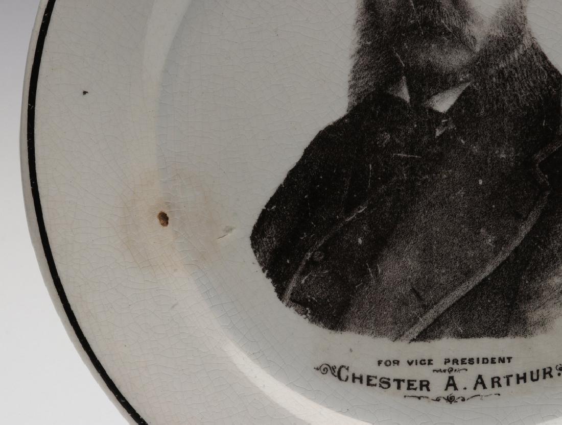 CHESTER ARTHUR FOR VICE PRESIDENT PORCELAIN PLATE - 7