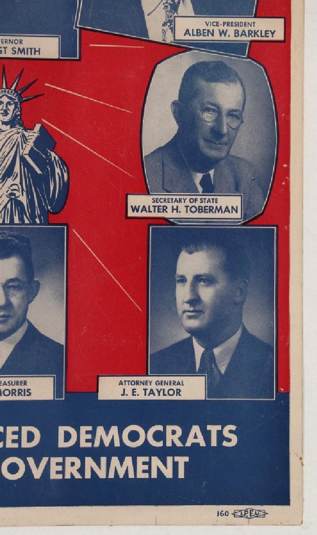 ORIGINAL 1948 DEMOCRATIC ELECTION POLITICAL POSTER - 5