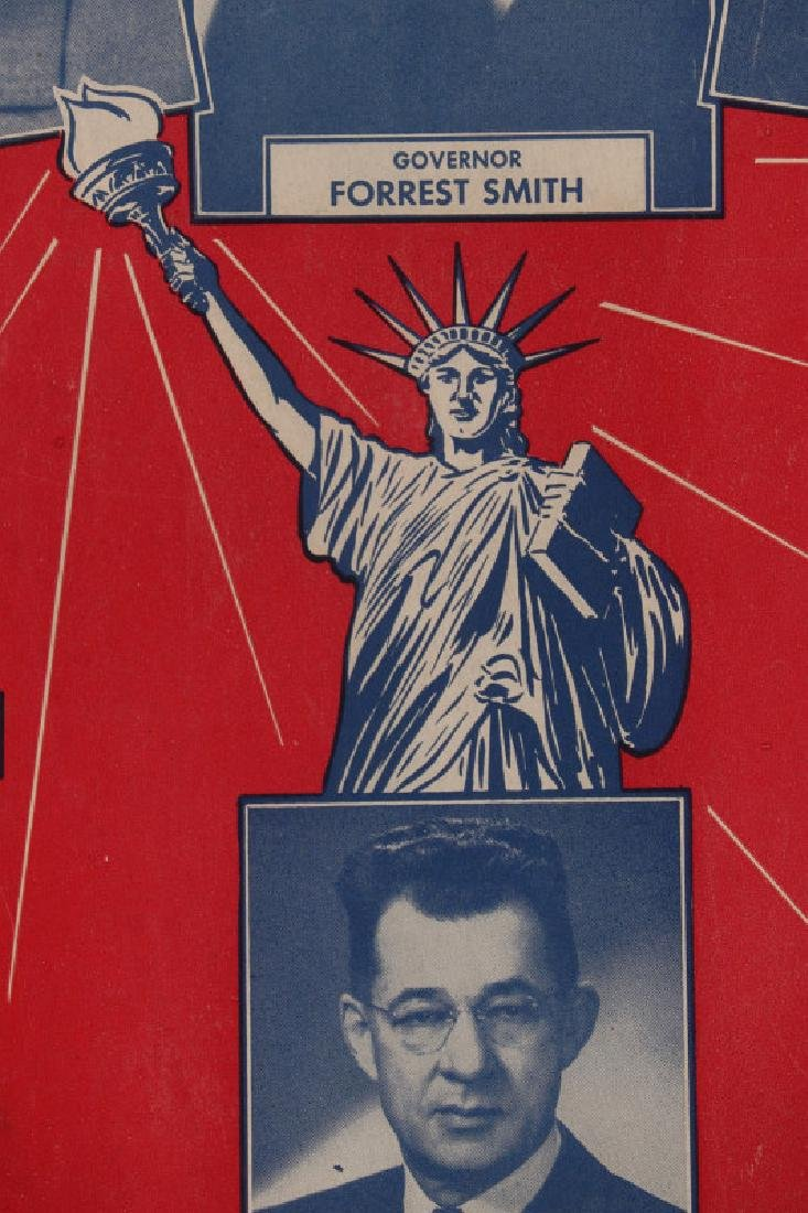 ORIGINAL 1948 DEMOCRATIC ELECTION POLITICAL POSTER - 7