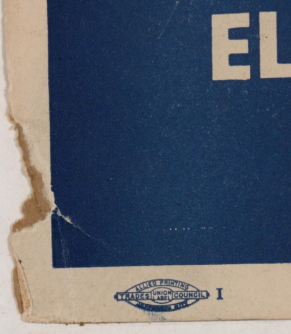ORIGINAL 1948 DEMOCRATIC ELECTION POLITICAL POSTER - 8