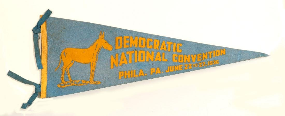 1936 DEMOCRATIC NATIONAL CONVENTION PENNANT