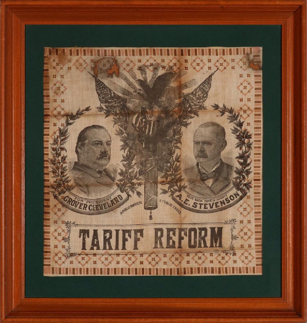 A CLEVELAND STEVENSON 1892 POLITICAL BANDANA