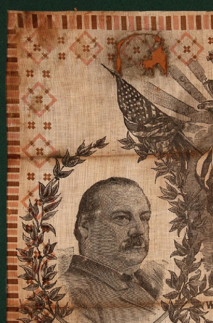 A CLEVELAND STEVENSON 1892 POLITICAL BANDANA - 3