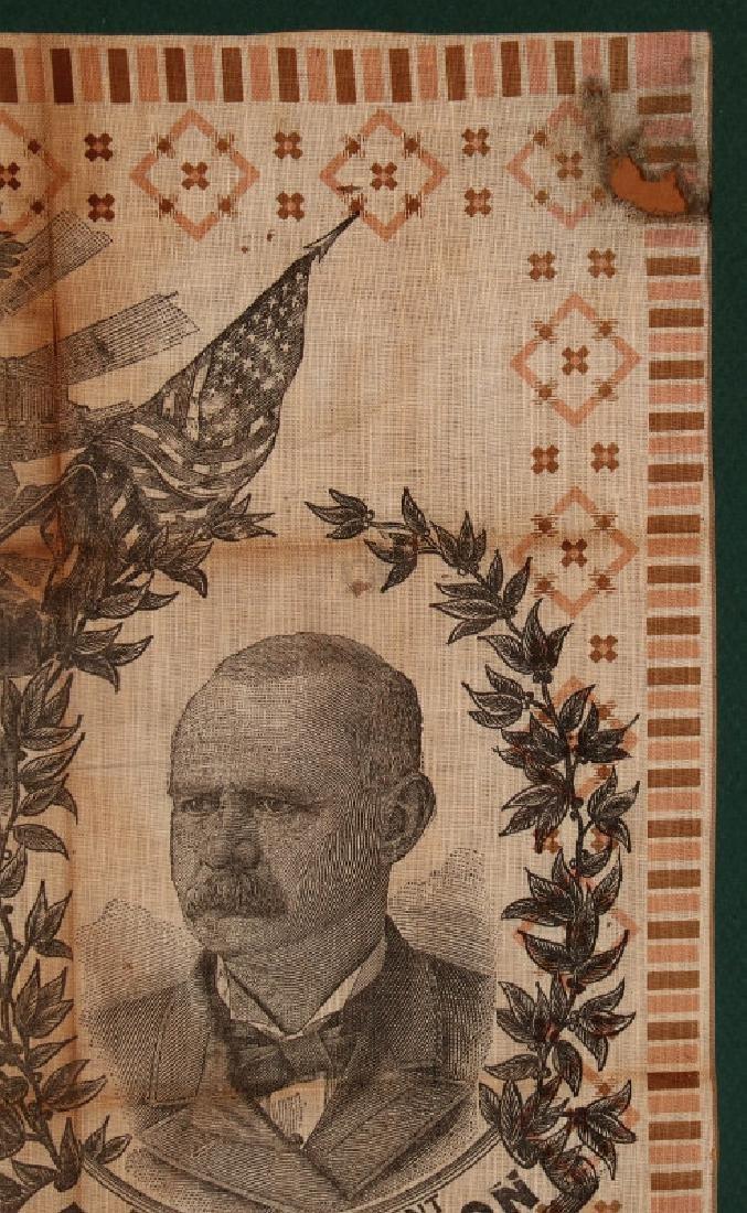 A CLEVELAND STEVENSON 1892 POLITICAL BANDANA - 4