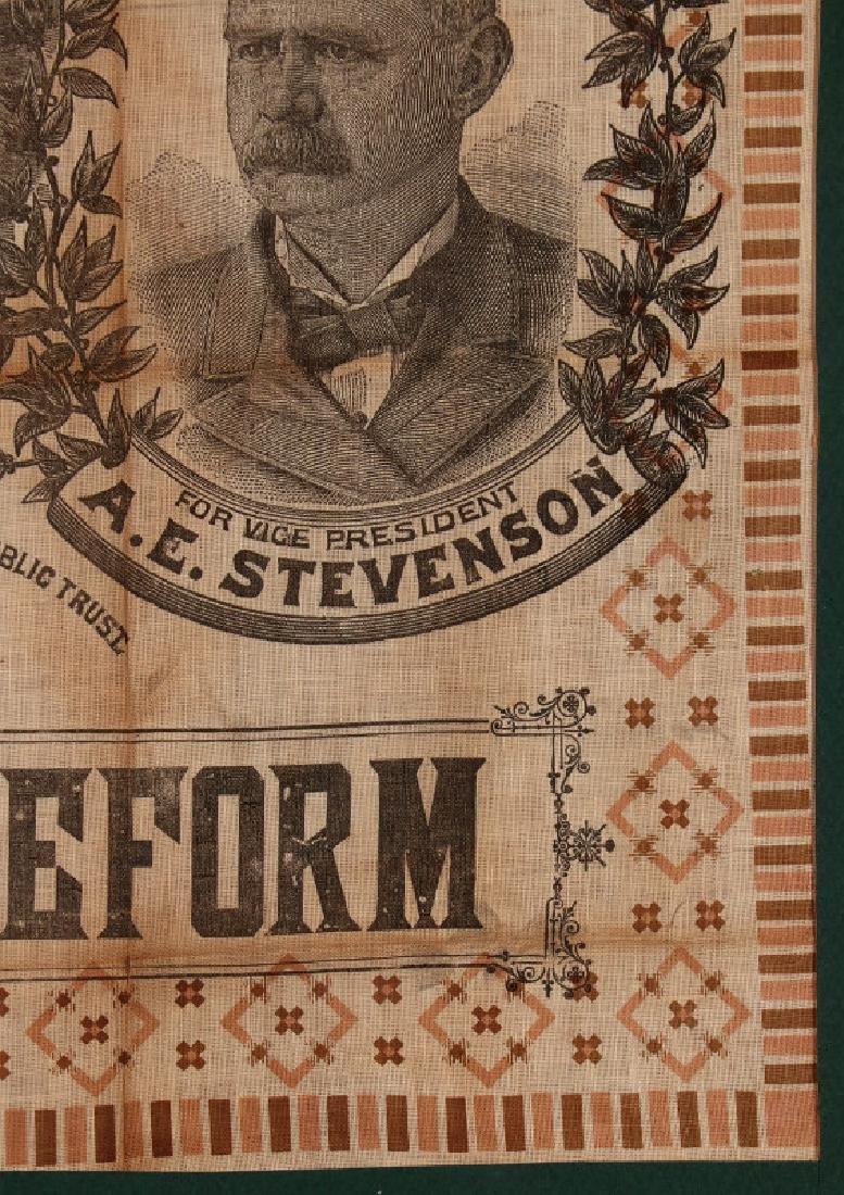 A CLEVELAND STEVENSON 1892 POLITICAL BANDANA - 5