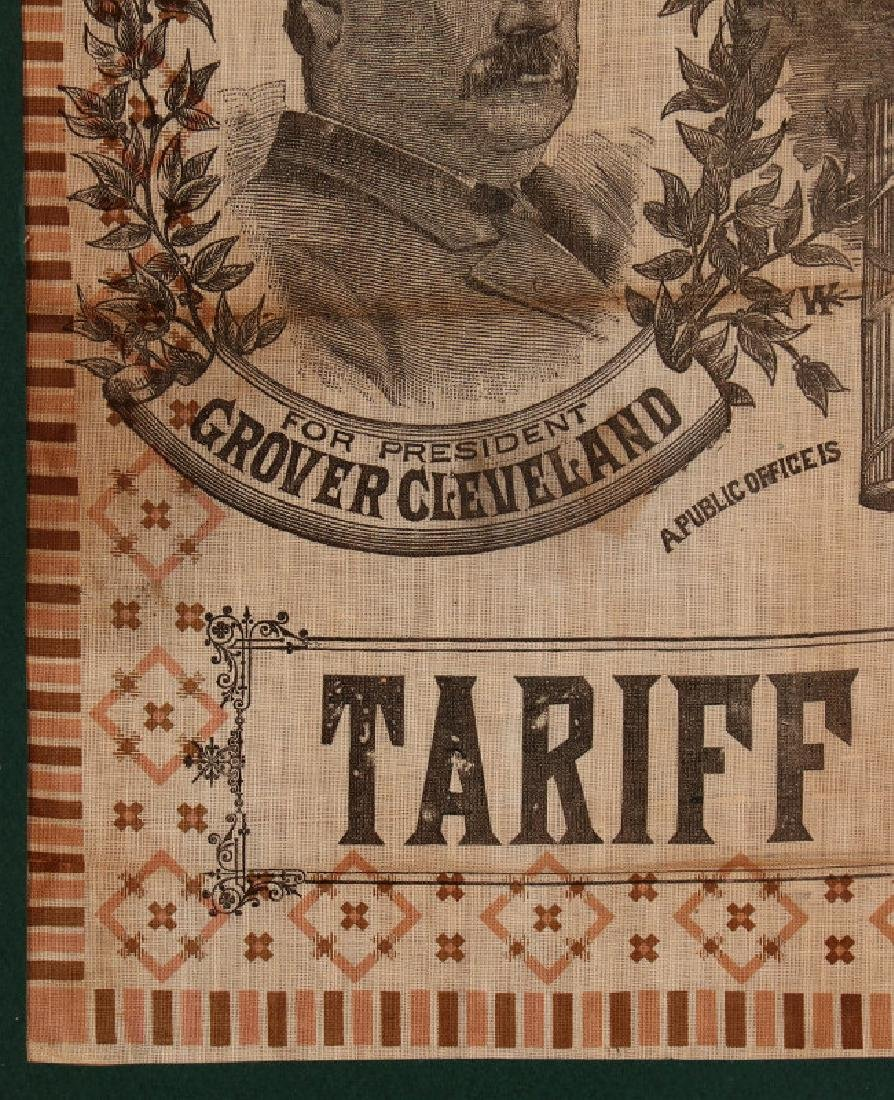 A CLEVELAND STEVENSON 1892 POLITICAL BANDANA - 6