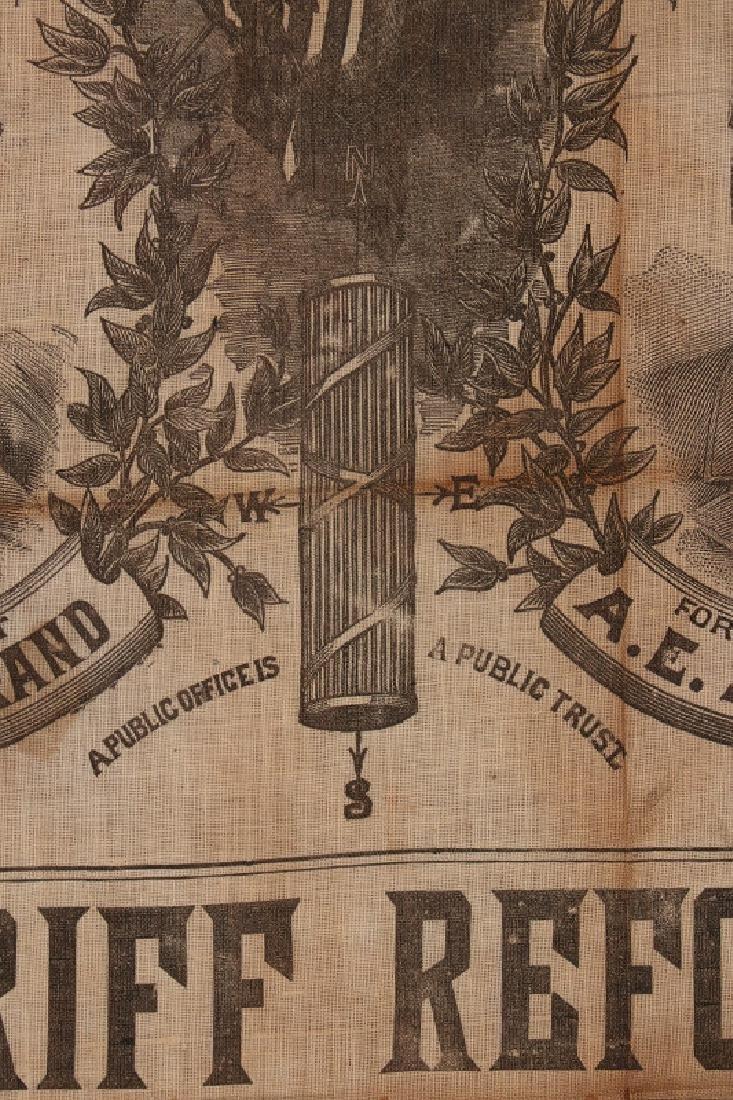 A CLEVELAND STEVENSON 1892 POLITICAL BANDANA - 7