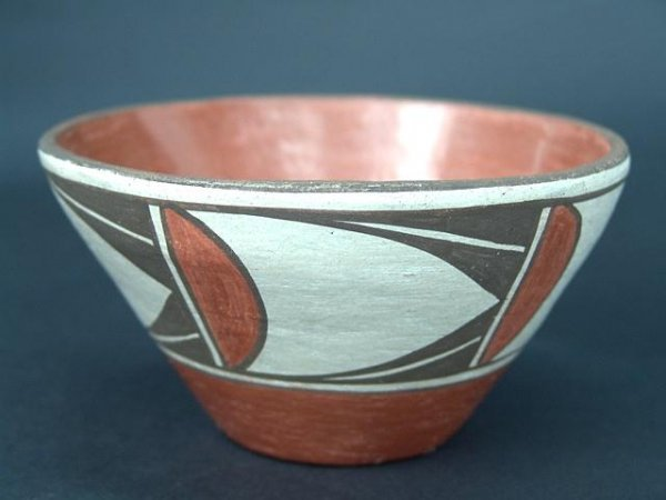 18: CONTEMPORARY ZIA INDIAN POTTERY CHILI BOWL