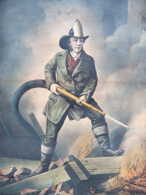 210: ORIGINAL CURRIER IVES  AMERICAN FIREMAN more image