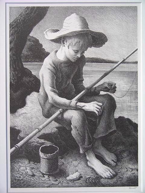503: PENCIL SIGNED LITHOGRAPH BY THOMAS HART BENTON