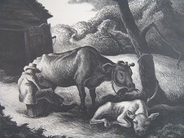 504: PENCIL SIGNED LITHOGRAPH BY THOMAS HART BENTON