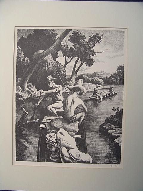505: PENCIL SIGNED OFFSET LITHO BY THOMAS HART BENTON