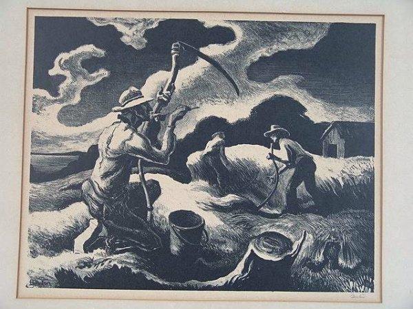 506: PENCIL SIGNED LITHOGRAPH BY THOMAS HART BENTON