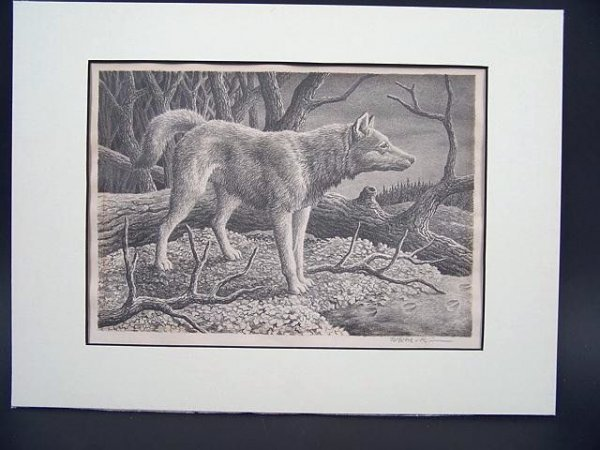 508: PENCIL SIGNED LITHOGRAPH BY WILLIAM MCKIM (1916 -