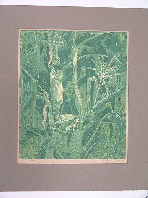 510: PENCIL SIGNED COLOR WOODBLOCK BY JANET TURNER (191