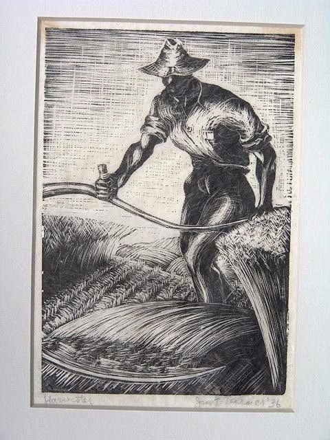 511: PENCIL SIGNED WOOD ENGRAVING BY JANET TURNER (1914