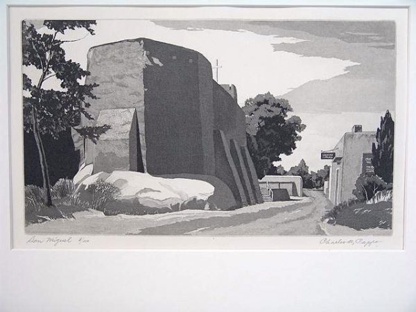 518: PENCIL SIGNED ETCHING BY CHARLES CAPPS (1898 - 198