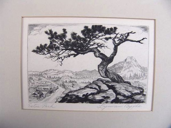 523: PENCIL SIGNED ETCHING BY LYMAN BYXBE (1886 - 1980)