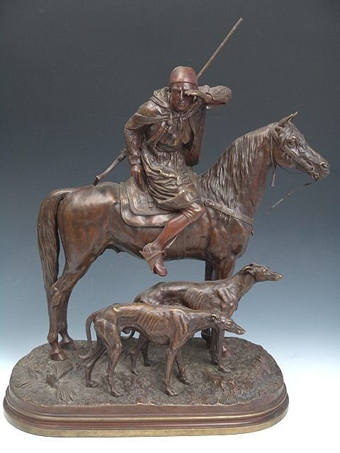 579: ALFRED DUBUCAND (1828-1894) ANTIQUE BRONZE SCULPTU