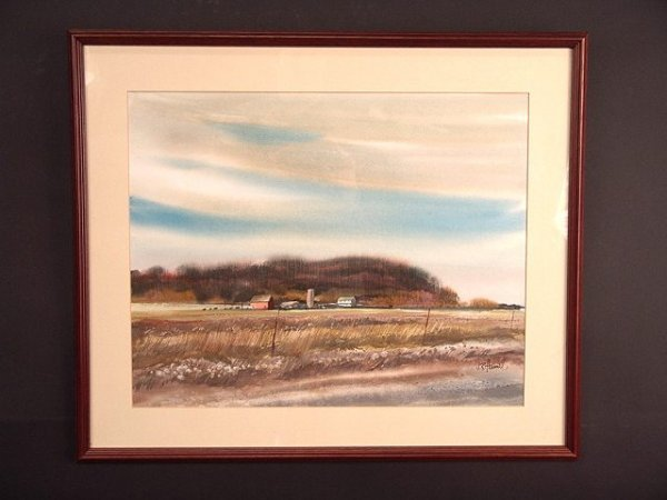 684: WATERCOLOR ON PAPER BY KANSAS ARTIST J. R. HAMIL - 2