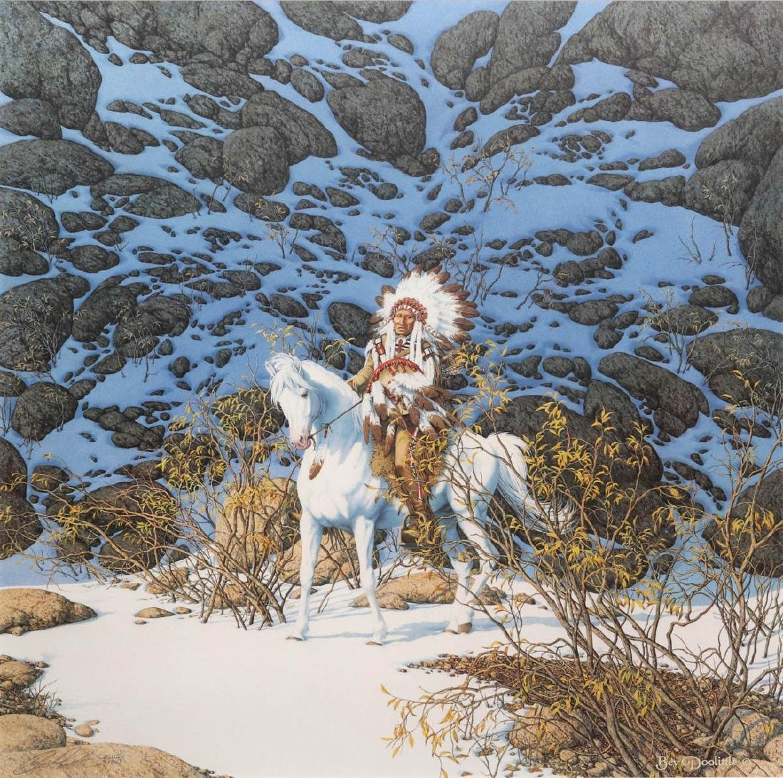 BEV DOOLITTLE (BORN 1947) PENCIL SIGNED LITHOGRAPH
