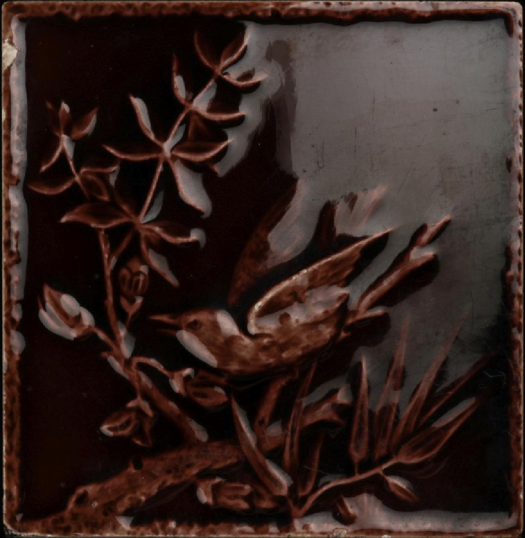 A 19TH C VICTORIAN GLAZED TILE, ENCAUSTIC TILE CO.