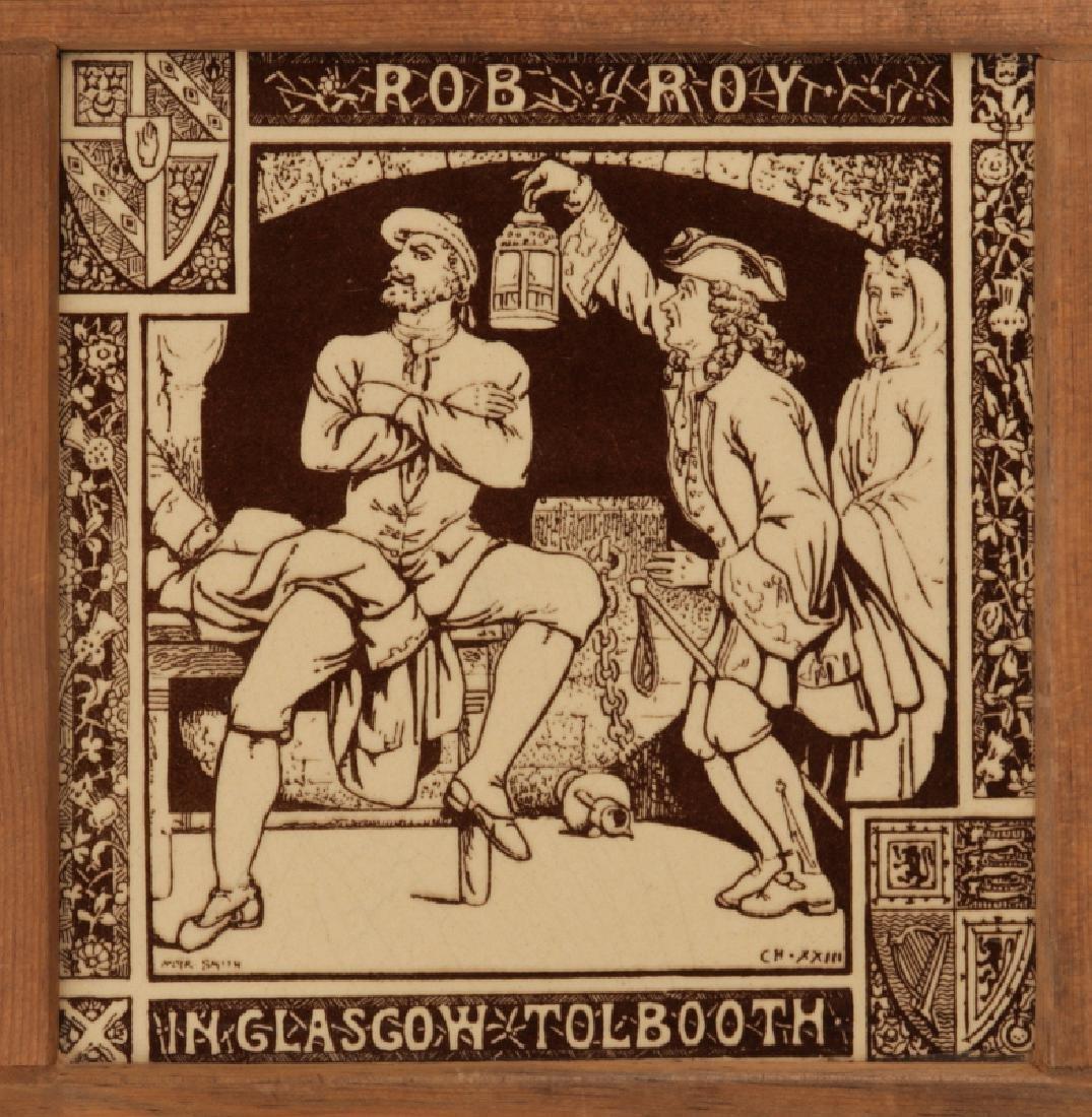 A MINTON BROWN TRANSFER MOYR SMITH ROB ROY TILE