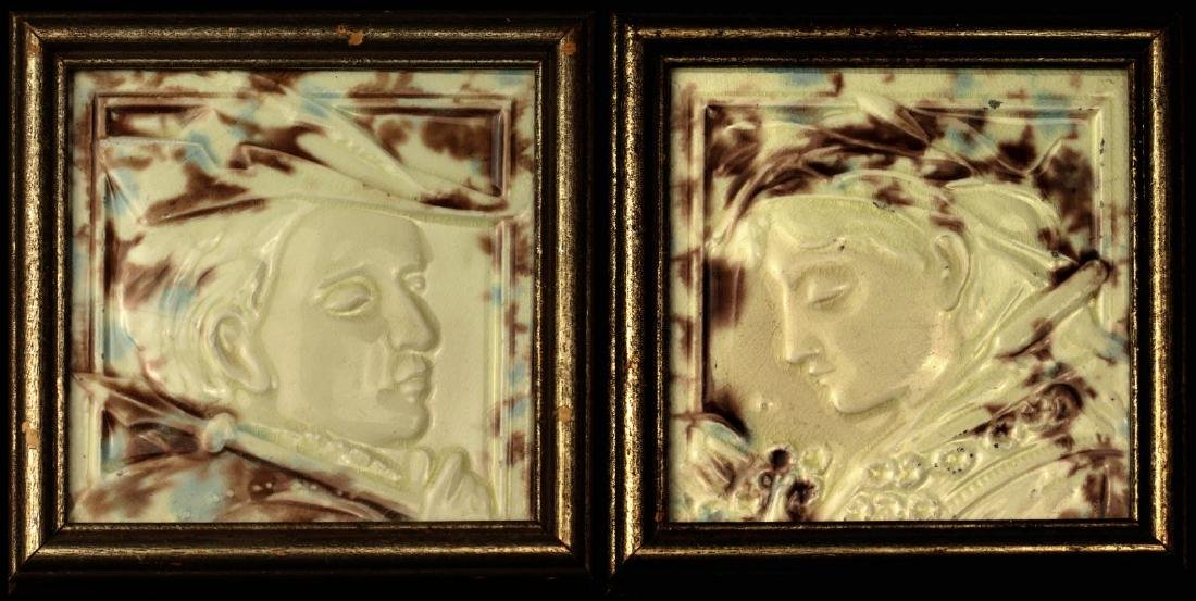 HAMILTON TILE WORKS VICTORIAN PORTRAIT ART TILES