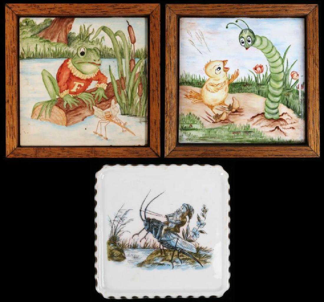 TWO MID 20TH CENTURY STORYBOOK ILLUSTRATION TILES