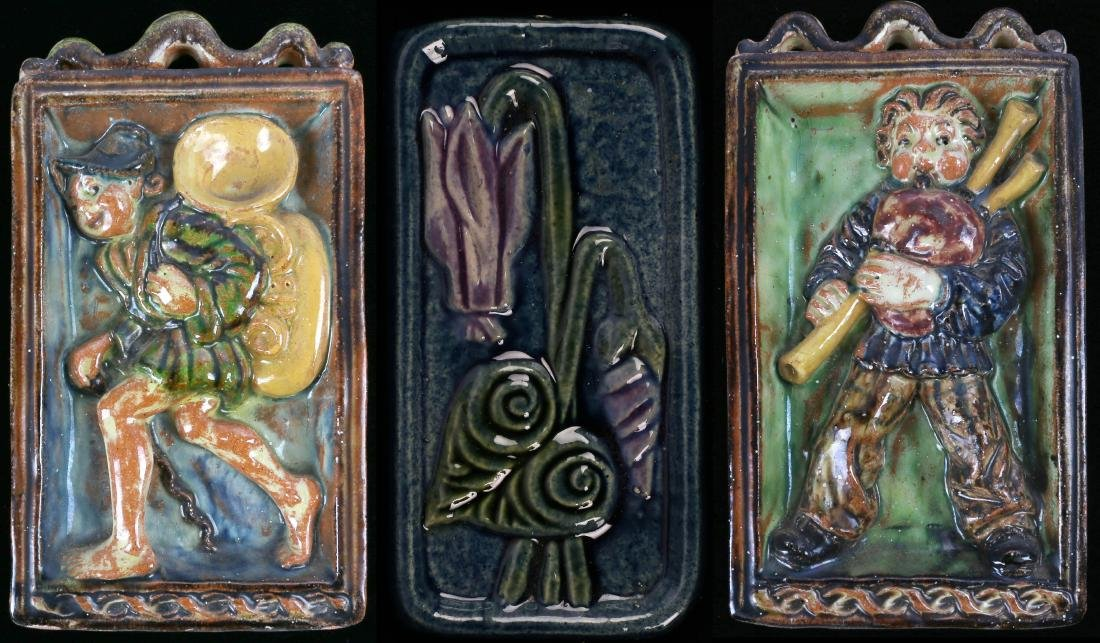 EARLY 20TH C. ART POTTERY RELIEF TILES OR PLAQUES