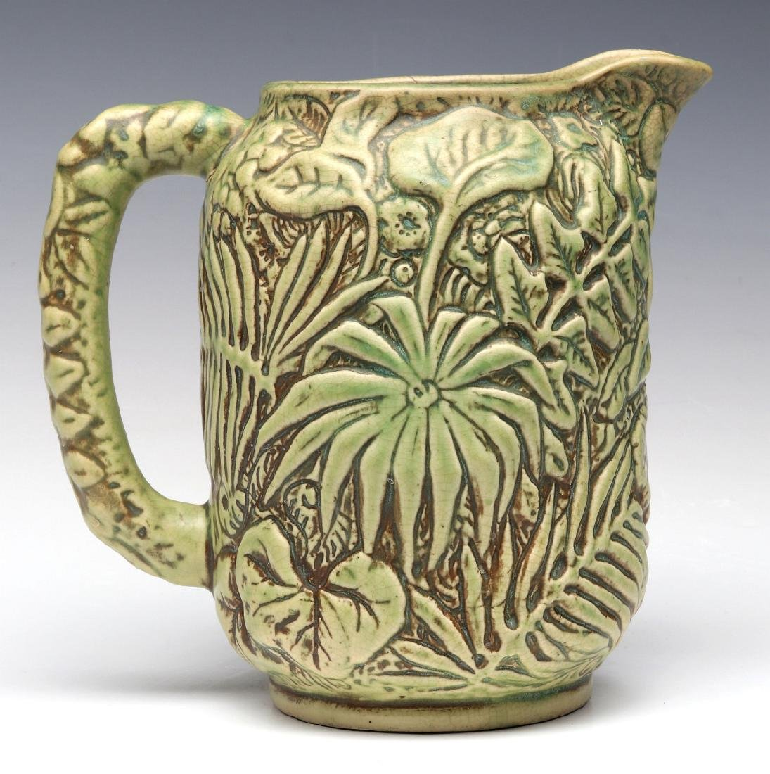 A WELLER 'MARVO' ART POTTERY PITCHER