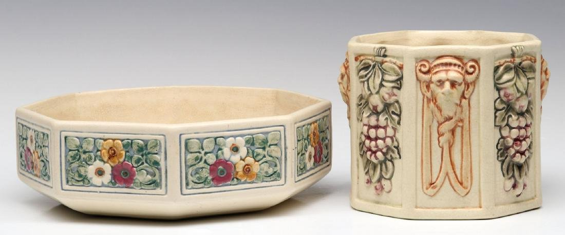 WELLER POTTERY 'FLORALA' AND 'ROMA' PLANTER VASES