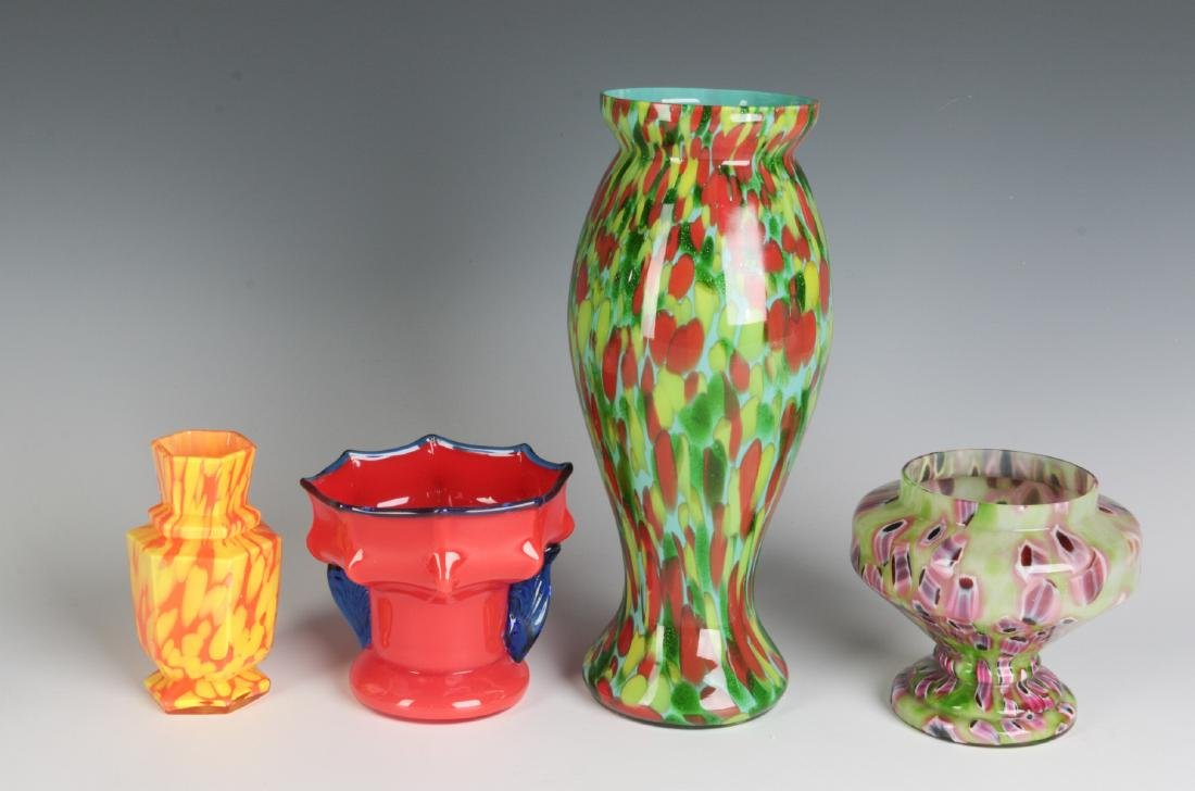 A COLLECTION OF CZECHOSLOVAKIAN ART GLASS