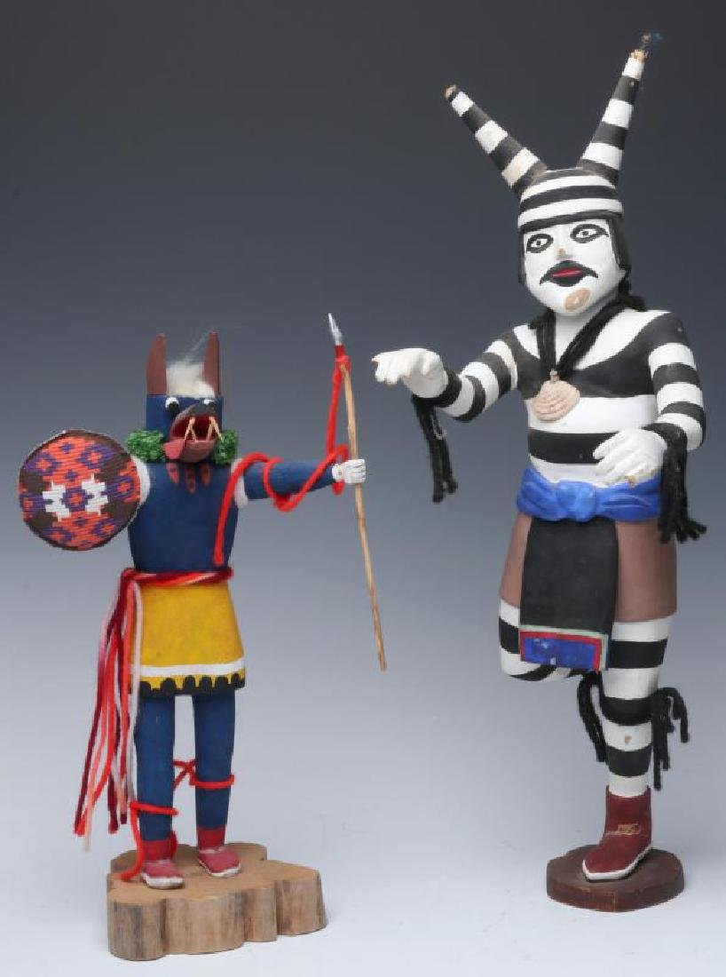 TWO LATE 20TH CENTURY KACHINA DOLLS