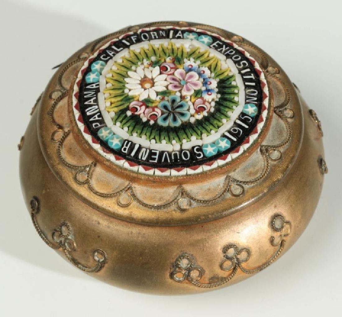 PANAMA CALIFORNIA EXPOSITION 1915 MICROMOSAIC BOX