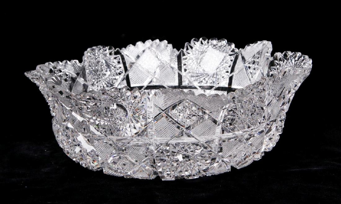 A SUPERB 11-INCH ABP BOWL IN HOBSTARS AND DIAMONDS