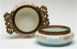 TWO WAVE CREST VICTORIAN ART GLASS PIN TRAYS