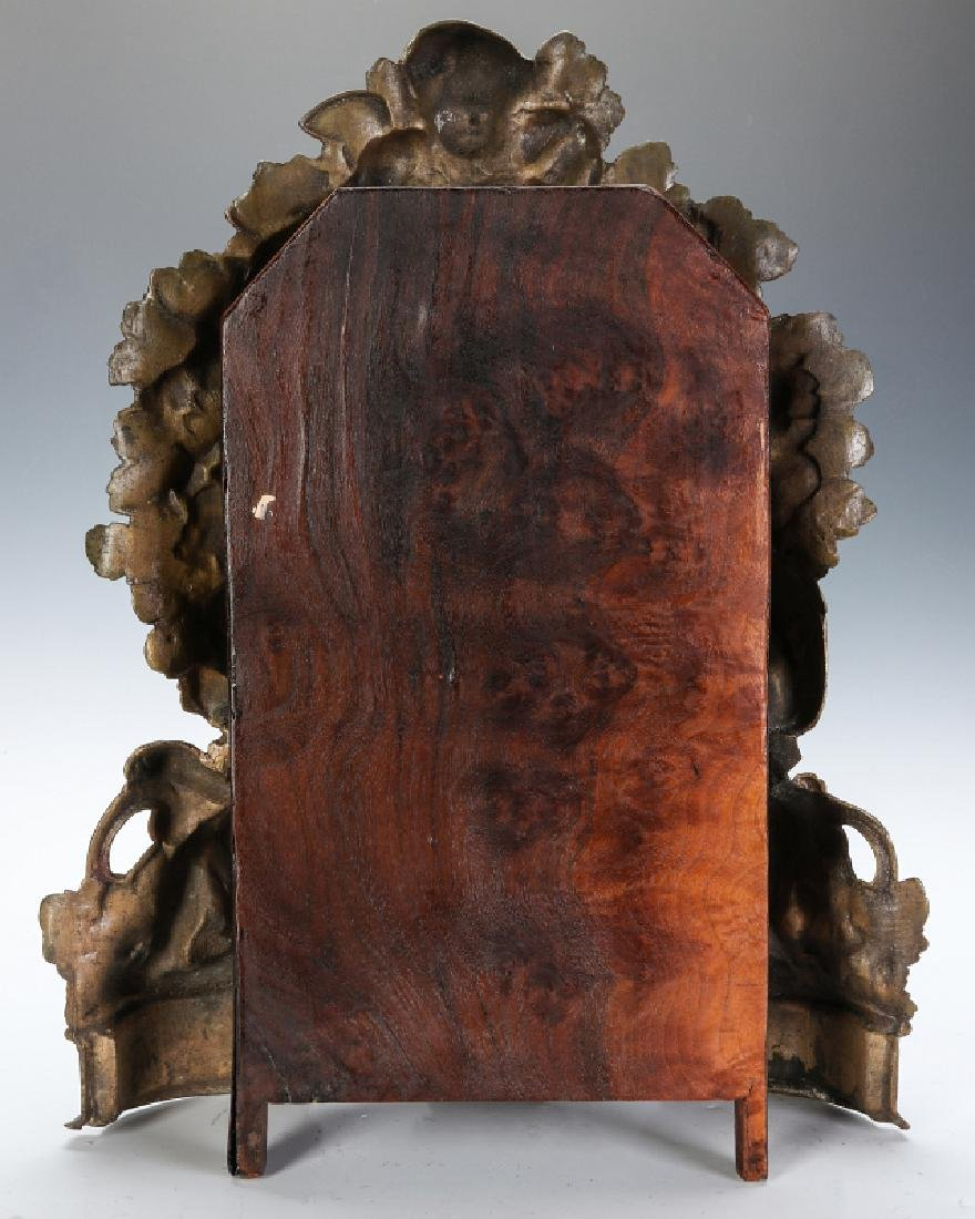 A NICHOLAS MULLER CAST IRON CLOCK WITH PUTTI - 11