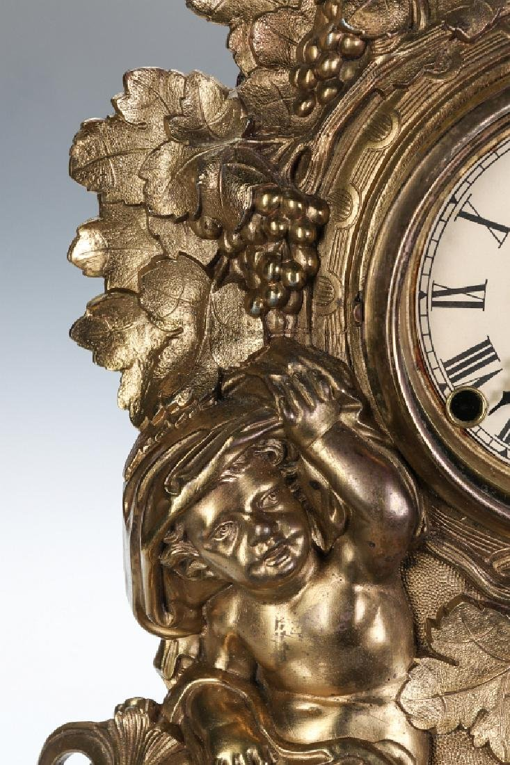 A NICHOLAS MULLER CAST IRON CLOCK WITH PUTTI - 7